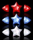 Iconos de la joyería de estrellas y de flechas Imagen de archivo libre de regalías