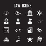 Iconos de la ley fijados Libre Illustration