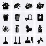 Iconos de la limpieza Fotos de archivo