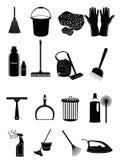 Iconos de la limpieza Fotografía de archivo libre de regalías
