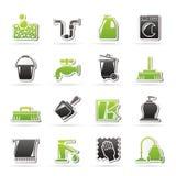 Iconos de la limpieza y de la higiene Imagen de archivo libre de regalías