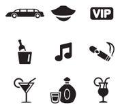 Iconos de la limusina stock de ilustración