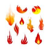 Iconos de la llama ilustración del vector