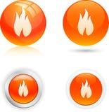Iconos de la llama. stock de ilustración