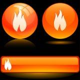Iconos de la llama. Fotografía de archivo libre de regalías
