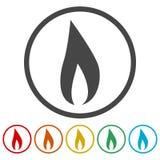 Iconos de la llama del gas fijados libre illustration