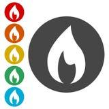 Iconos de la llama fijados ilustración del vector