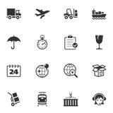 Iconos de la logística Imagen de archivo libre de regalías