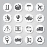 Iconos de la logística Imagenes de archivo