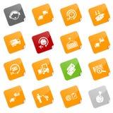 Iconos de la logística - serie pegajosa Imagen de archivo