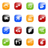 Iconos de la logística - serie del color Imágenes de archivo libres de regalías