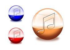 Iconos de la música Fotos de archivo libres de regalías