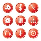 Iconos de la m?sica Imagen de archivo