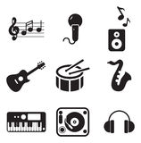 Iconos de la música libre illustration