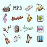 Iconos de la música Fotos de archivo
