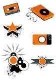 Iconos de la música Fotografía de archivo libre de regalías