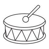 Iconos de la música Foto de archivo libre de regalías