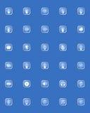 Iconos de la música del vector fijados Fotos de archivo libres de regalías