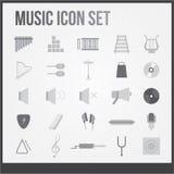 Iconos de la música fijados ilustración del vector