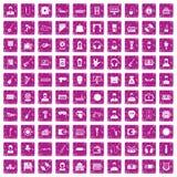100 iconos de la música fijaron rosa del grunge Foto de archivo libre de regalías