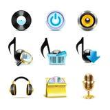 Iconos de la música | Serie de Bella Foto de archivo