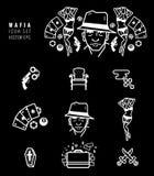 Iconos de la mafia fijados Fotos de archivo libres de regalías