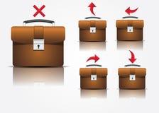 Iconos de la maleta Imagen de archivo libre de regalías