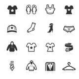 Iconos de la manera y de la ropa - serie del minimo Fotografía de archivo