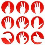 Iconos de la mano Fotos de archivo libres de regalías