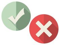 Iconos de la marca de verificación Imagen de archivo libre de regalías