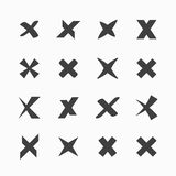 Iconos de la marca de verificación Imagenes de archivo