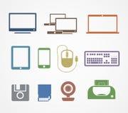 Iconos de la materia de Digitaces Fotografía de archivo