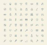 Iconos de la medicina Imágenes de archivo libres de regalías