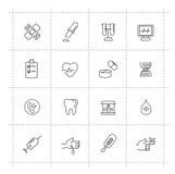 Iconos de la medicina Imagenes de archivo