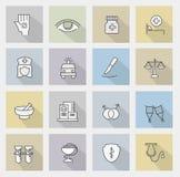 Iconos de la medicina Fotografía de archivo libre de regalías