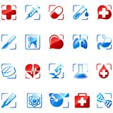 Iconos de la medicina Foto de archivo