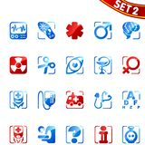 Iconos de la medicina. Conjunto 2. Imagen de archivo libre de regalías