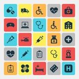 Iconos de la medicina fijados ilustración del vector