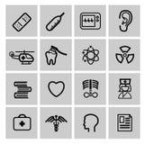 Iconos de la medicina y de Heath Care Imágenes de archivo libres de regalías