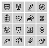 Iconos de la medicina y de Heath Care Imagen de archivo libre de regalías