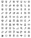 Iconos de la medicina y de Heath Care Imagenes de archivo