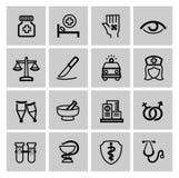 Iconos de la medicina y de Heath Care Foto de archivo libre de regalías