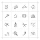 Iconos de la medicina y de Heath Care Imagen de archivo