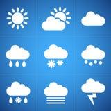 Iconos de la meteorología Imagen de archivo libre de regalías