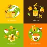 Iconos de la miel fijados Imagen de archivo libre de regalías