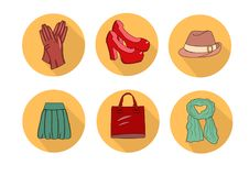 Iconos de la moda libre illustration