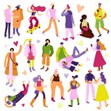 Iconos de la moda de la calle fijados Imágenes de archivo libres de regalías
