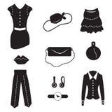 Iconos de la moda de las señoras Fotografía de archivo libre de regalías