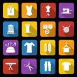 Iconos de la modistería Foto de archivo libre de regalías