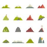 Iconos de la montaña Foto de archivo